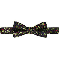 Brown Christmas holly bowtie