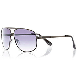 Grey aviator sunglasses