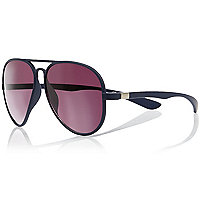 Navy aviator sunglasses