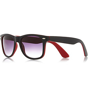 Black and red retro sunglasses