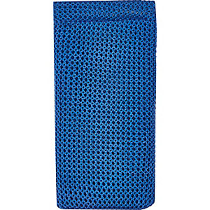 Blue mesh sunglasses case