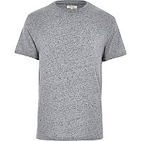 Grey roll sleeve t-shirt