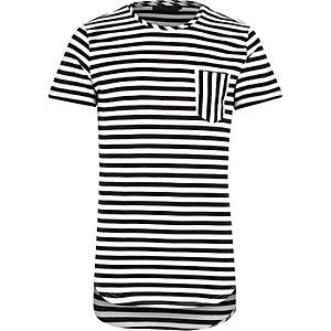 White Vito stripe pocket t-shirt