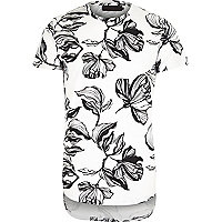 White Vito floral t-shirt