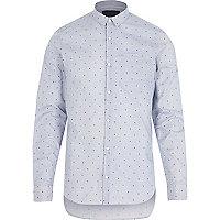 Blue Vito print shirt