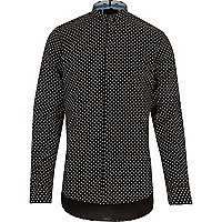 Black Vito triangle print shirt