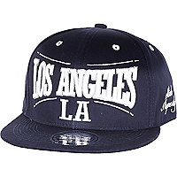 Navy Los Angeles flatpeak hat