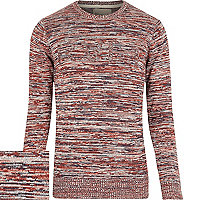Red RVLT pattern knitted jumper