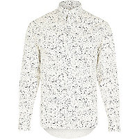 White RVLT paint splash long sleeve shirt