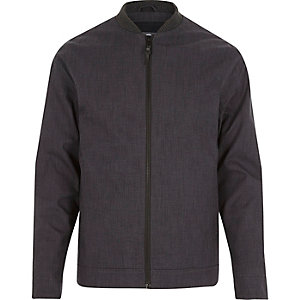 Dark grey RVLT bomber jacket