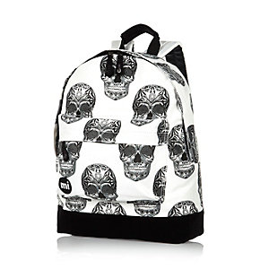 Ecru Mipac skulls print backpack