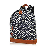 Black Mipac tribal print backpack