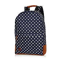 Navy Mipac star print tall backpack