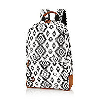 White large Mipac Aztec print backpack