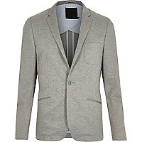 Grey Vito jersey blazer