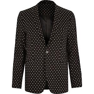 Black Vito polka dot blazer