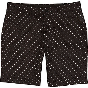 Black Vito polka dot shorts