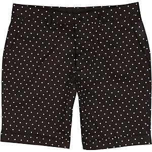 Black Vito polka dot shorts