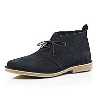 Navy Jack & Jones Premium suede desert boots