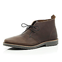 Brown Jack & Jones Premium desert boots