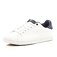 White Jack & Jones Vintage casual trainers