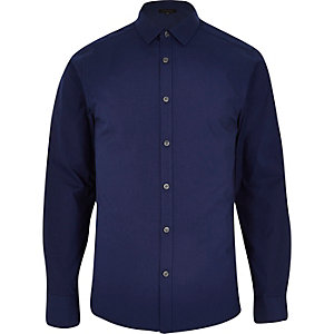 Navy long sleeve button shirt