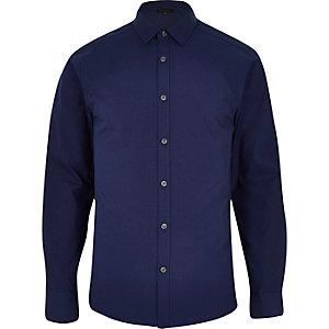 Navy long sleeve button shirt