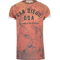 Orange San Diego print t-shirt