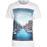 White Amsterdam print t-shirt