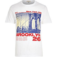 White Brooklyn print t-shirt