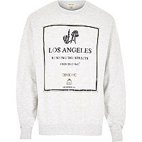 Grey Los Angeles print sweatshirt
