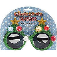 Christmas tree novelty glasses