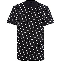 Black polka dot t-shirt