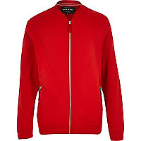 Red casual bomber jacket