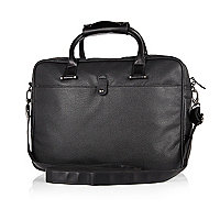 Black smart pebbled work bag