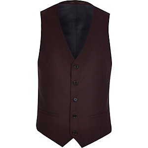 Red smart waistcoat