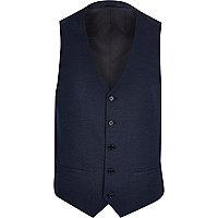 Blue smart waistcoat