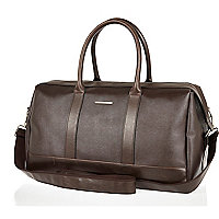 Brown structured holdall bag