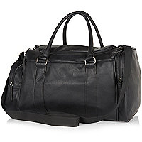 Black mini holdall