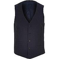 Navy pinstripe waistcoat