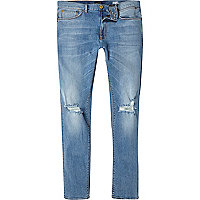 Mid wash ripped Sid skinny stretch jeans