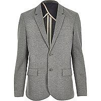 Grey ponte jersey blazer