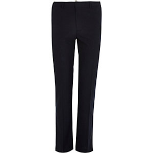 Navy smart slim pants