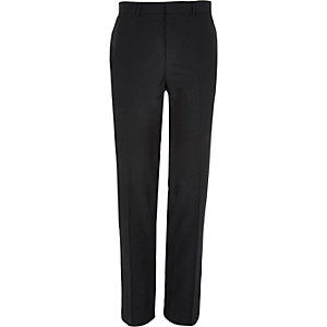 Black smart classic fit suit trousers
