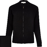 Black bomber cardigan