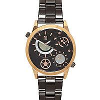 Grey dual dial bracelet watch