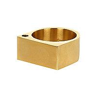 Gold tone Lusardi chunky ring
