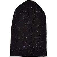 Black neppy beanie hat