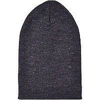 Grey neppy beanie hat