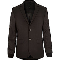 Black contrast sleeve blazer jacket